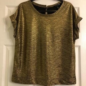 Forever 21 Gold Sleeveless Top Size Large